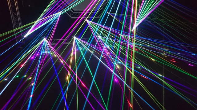 colorful lasers